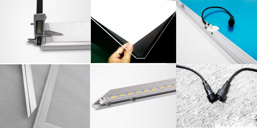 details of led panel light