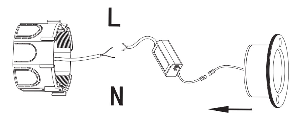 3w led step light electrical connection diagram