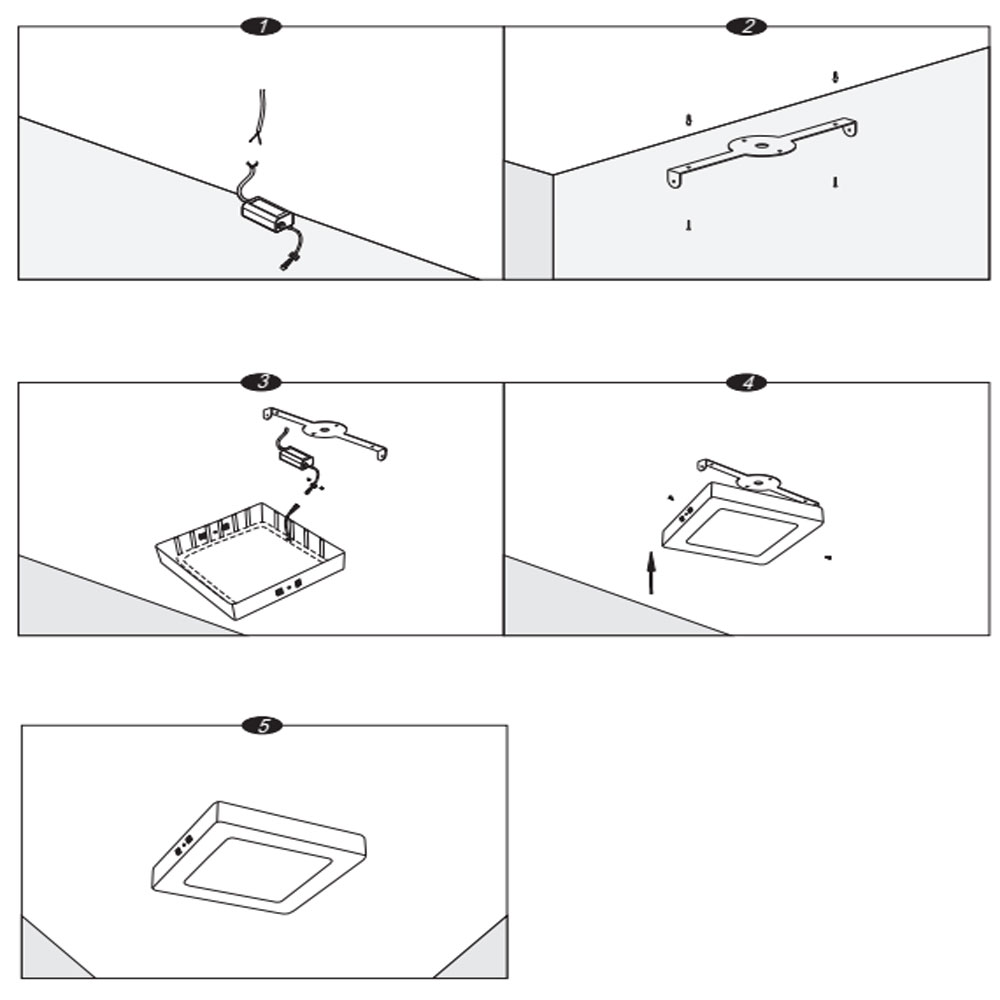 How to install 12w surface mounted small square led panel light