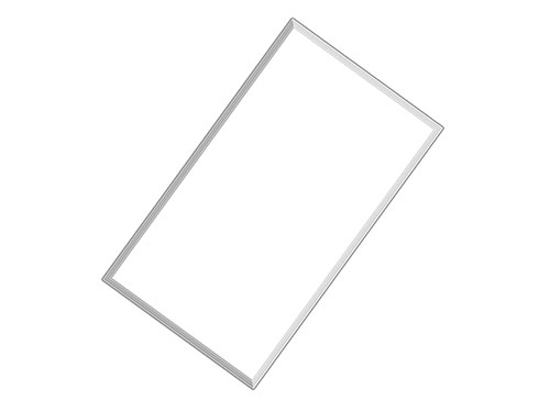 2x4 led light panel 72W ultra bright with install kit