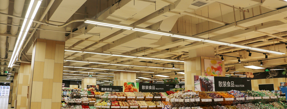 adjustable beam angle linear LED light for supermarket