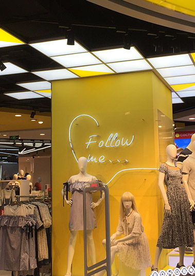 LED panel light for clothes shop