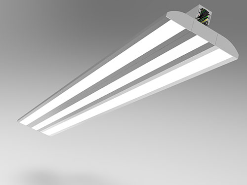 track mounted double wings led panel light