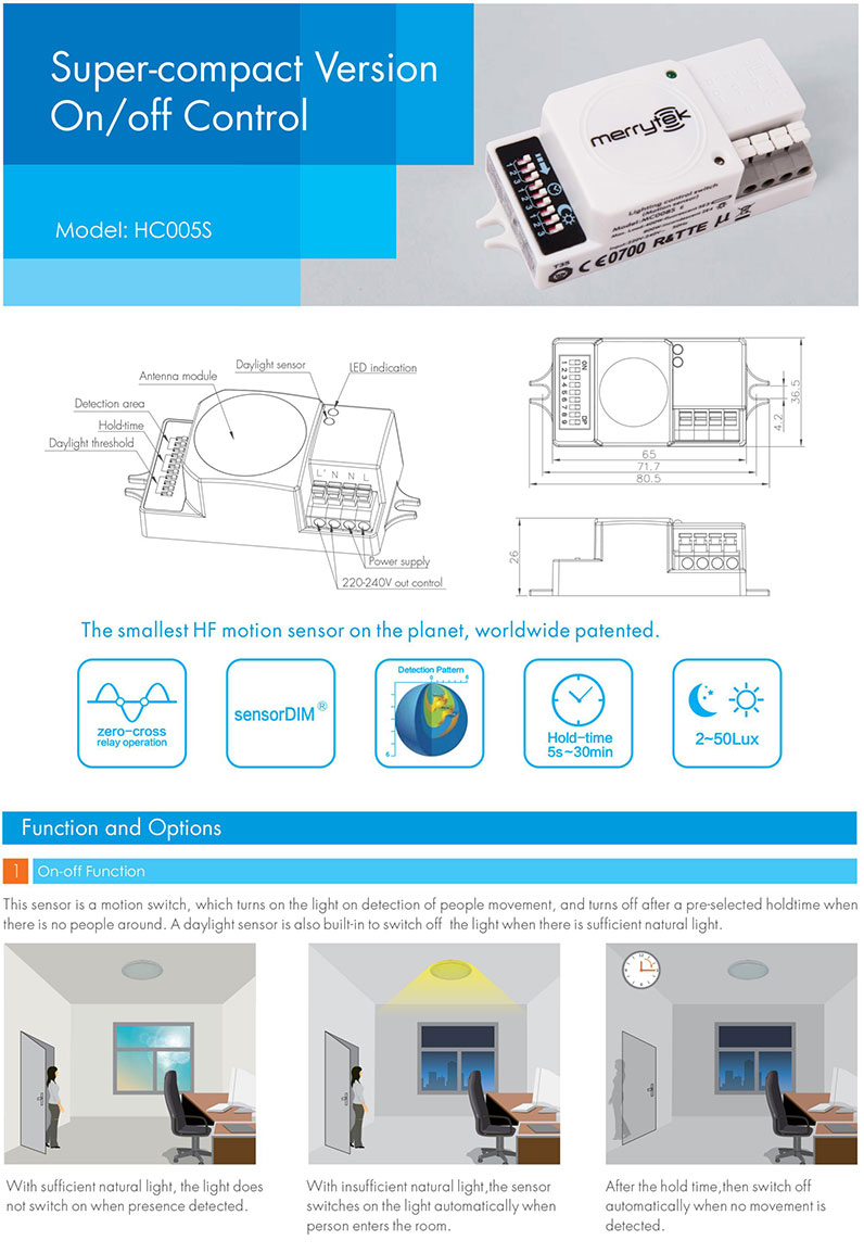 motion sensor led panel light from China manufacturer