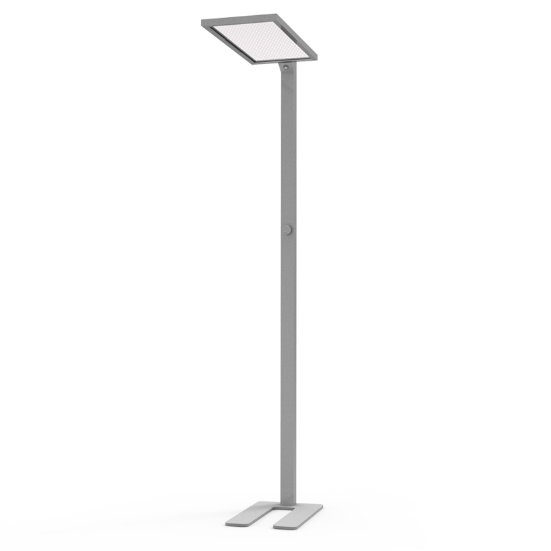 Bright 75w ugr19 sliver frame led standing floor lamps with smart light sensor