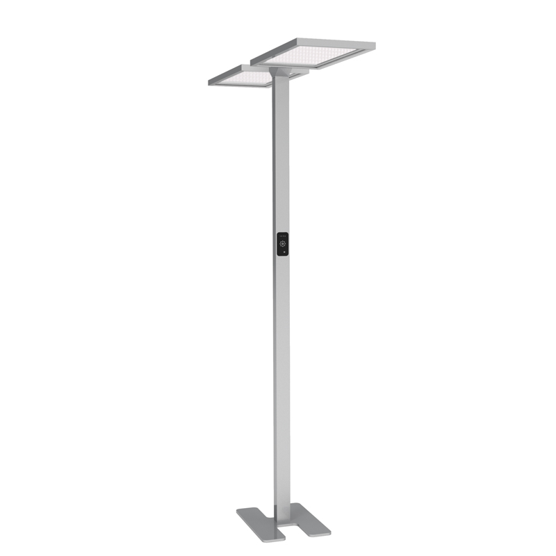 Office UGR19 smart sensing touch control dimming double head lighting led standing desktable lamps (1)