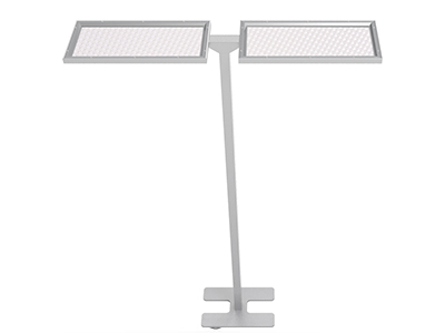 Office UGR19 smart sensing touch control dimming double head lighting led standing desktable lamps