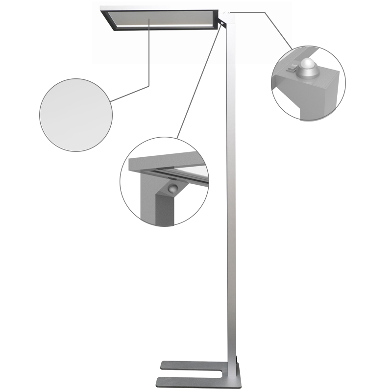 Touch control model 1-10v dimming motion sensing standing floor lamp with light sensor